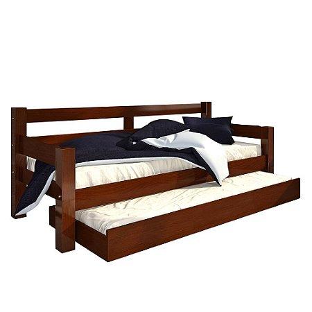 Bicama Madeira Maciça Confort - Castanho