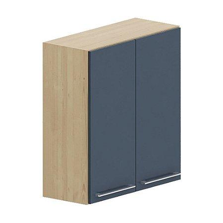 Armário 2 Portas - Cedro/Azul