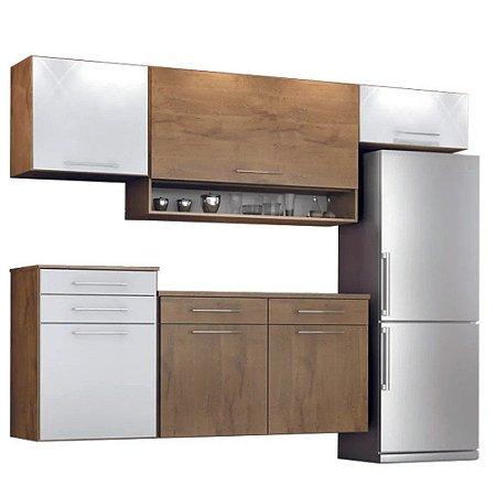 Cozinha Modulado Rubi 05 peças – Castanho/Branco