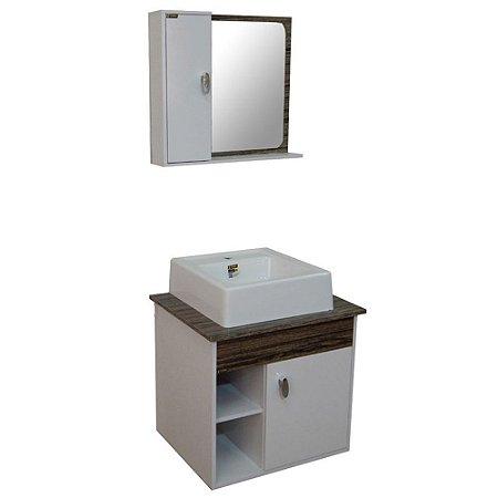 Gabinete para Banheiro com Espelho Modena - Vintage