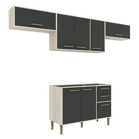 Armário de Cozinha Modulada Vitória CV009E - Crema TX/Onix