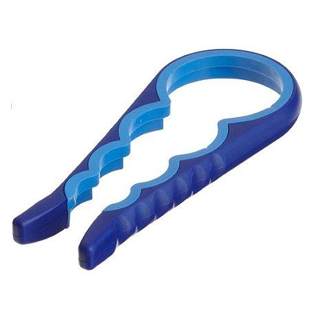 Abridor de Tampas e Potes Universal Silicone - Azul/Azul