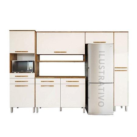 Cozinha Modulada 5 Peças Jade - Castanho/Off-White