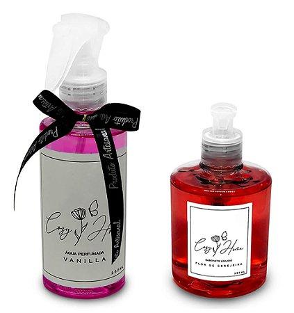 Kit - Água Perfumada Vanilla + Sabonete Líquido Flor de Cerejeira