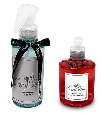 Kit - Água Perfumada Home + Sabonete Líquido Flor de Cerejeira