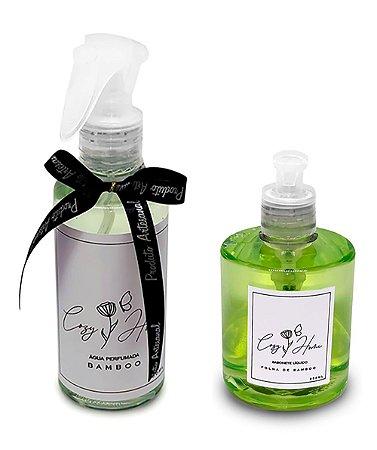 Kit - Água Perfumada Bamboo + Sabonete Líquido Folha de Bamboo
