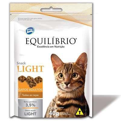 EQUILÍBRIO SNACK GATOS ADULTOS LIGHT 40 G