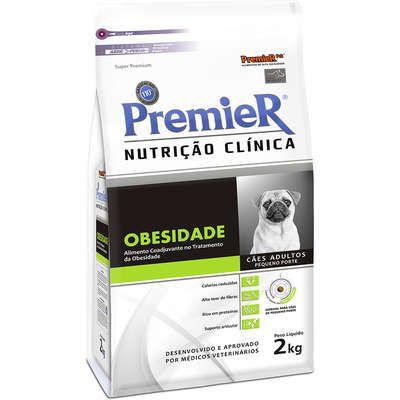 RAÇÃO NUTRIÇÃO CLINICA PREMIER OBESIDADE CÃES 2 KG