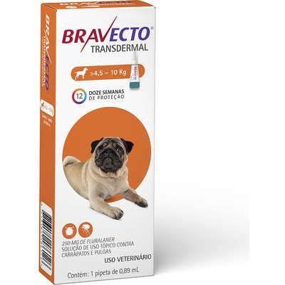 BRAVECTO TRANSDERMAL CÃES  4.5 - 10 KG