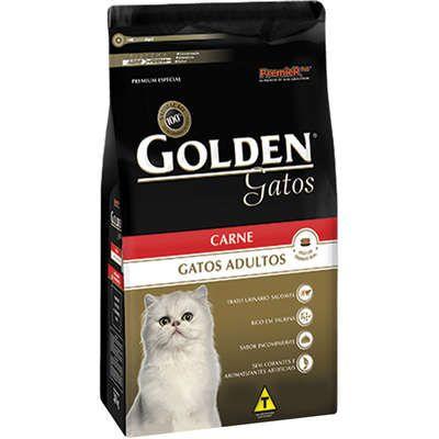 RAÇÃO GOLDEN GATOS ADULTOS CARNE 10.1 KG