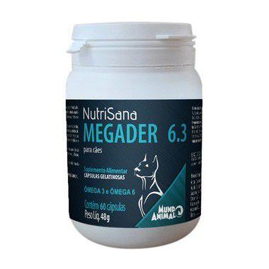 NUTRISANA MEGADER 6.3 CÃES 48G 60 CÁPSULAS