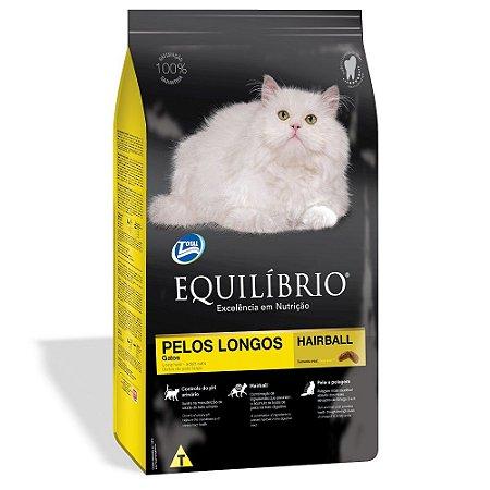 RAÇÃO EQUILIBRIO GATOS PELOS LONGOS HAIRBALL 1.5 KG