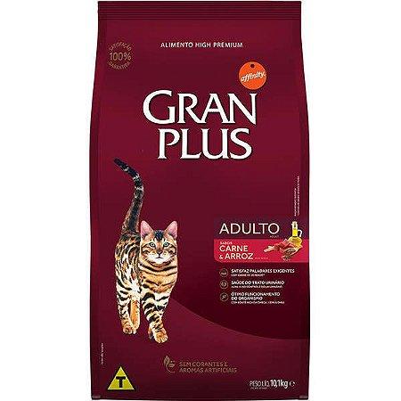 RAÇAO GRAN PLUS GATOS ADULTOS CARNE 10,1KG