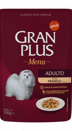 SACHÊ GRAN PLUS CÃES ADULTOS FRANGO 100G