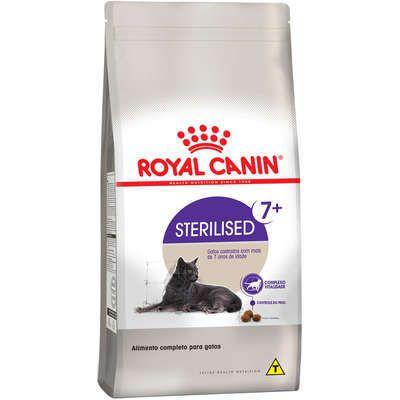 RAÇÃO ROYAL CANIN STERILISED GATOS CASTRADOS 7+ 1,5KG