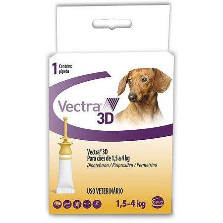VECTRA 3D CÃES 1,5 A 4KG - 1 PIPETA