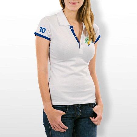 Camiseta Feminina Polo Baby Look Branca