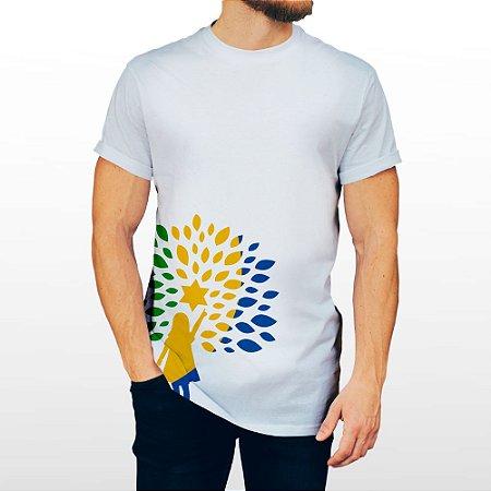 Camiseta Masculina Branca Com Símbolo Republicanos
