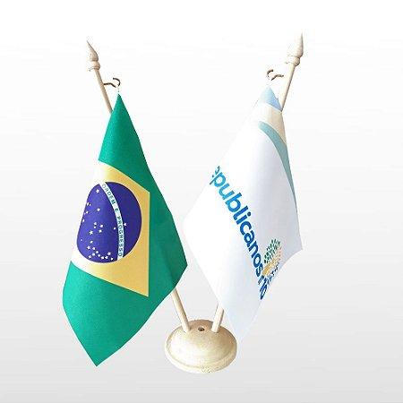 Bandeirinha De Mesa - Brasil e Republicanos