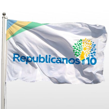 Bandeira Oficial do Republicanos 130cm x 90cm