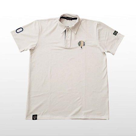Camiseta Masculina Polo Branca Com Bordado
