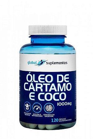 ÓLEO DE CÁRTAMO COM ÓLEO DE COCO 1G 120 CAPS
