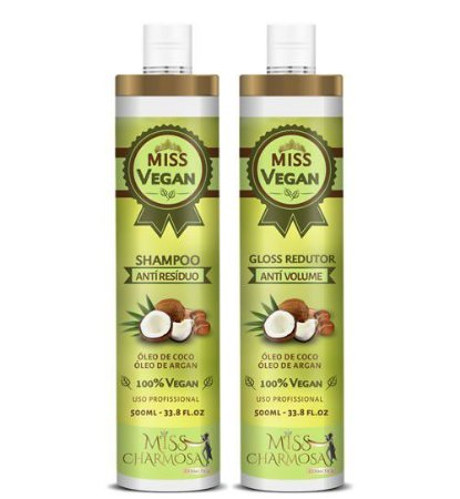 Escova Progressiva Sem Formol Vegetal Miss Vegan 2x500ml