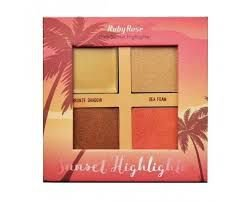 Ruby Rose Paleta Iluminador Sunset Highlighter Dark HB-7504