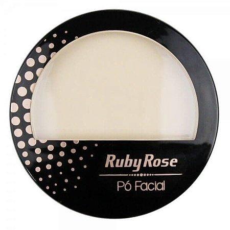Ruby Rose Pó Facial HB-7212 - Cor 01 Bege Claro