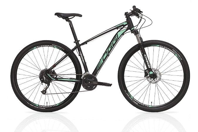 Bicicleta Aro 29 OGGI Big Wheel 7.0 2019 27V Preto/Verde