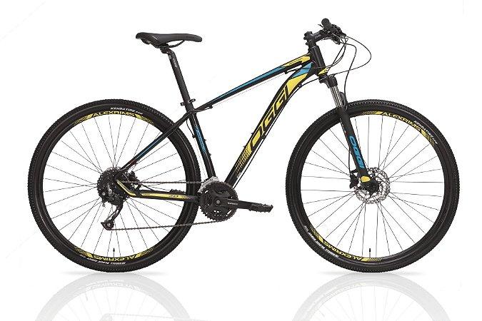 Bicicleta Aro 29 OGGI Big Wheel 7.0 2019 27V Azul/Amarelo