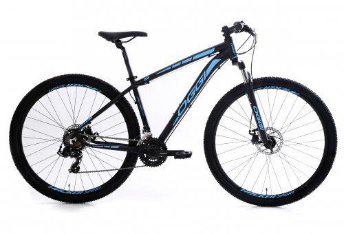 Bicicleta Aro 29 OGGI Hacker Sport 2019 21V Preto/Azul
