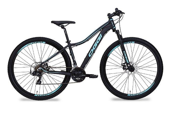 Bicicleta Aro 29 OGGI Float Sport 2019 21V Preto/Azul Feminina