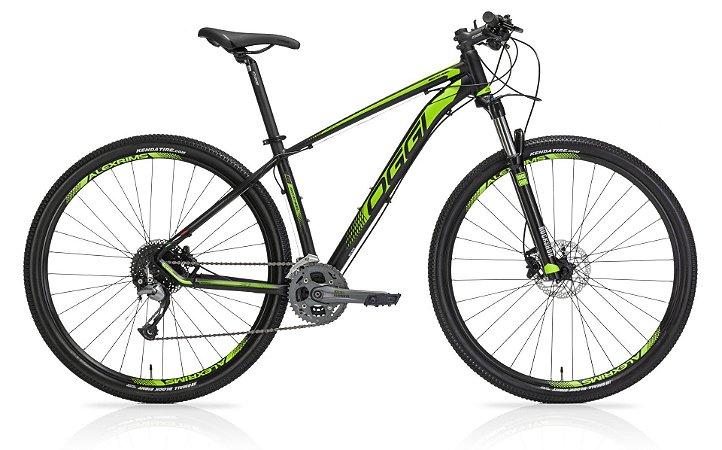 Bicicleta Aro 29 OGGI Big Wheel 7.1 2019 27V Preto/Verde