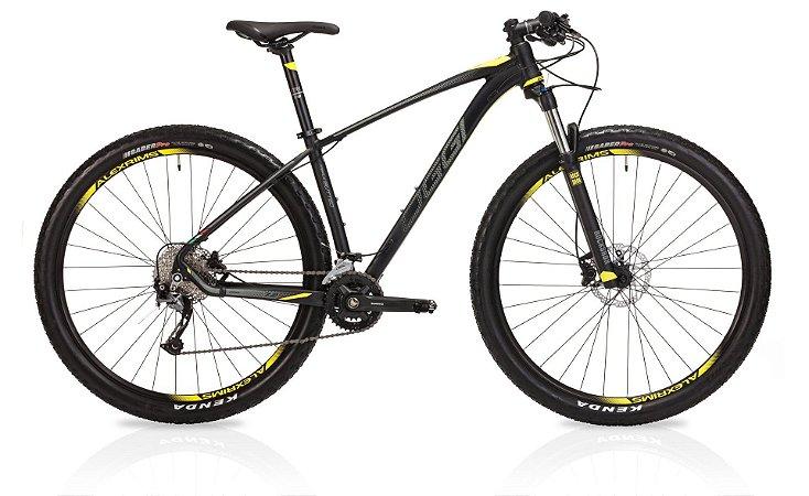 Bicicleta Aro 29 OGGI Big Wheel 7.2 2019 18V Preto/Amarelo