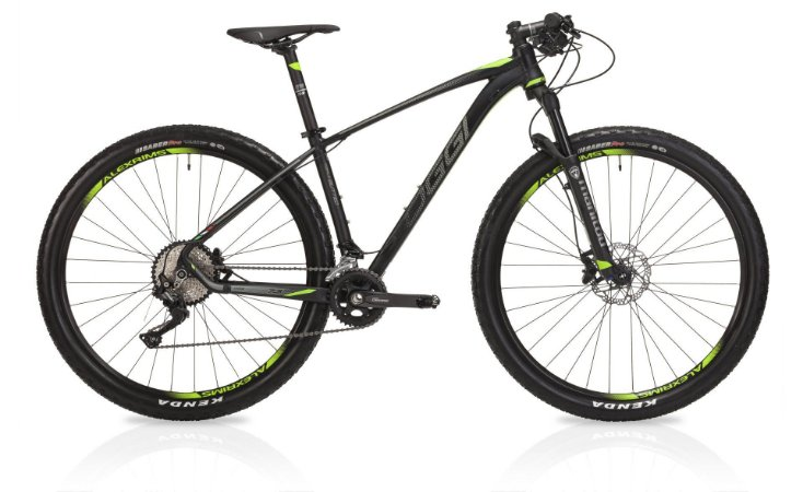 Bicicleta Aro 29 OGGI Big Wheel 7.3 2019 20V Preto/Verde