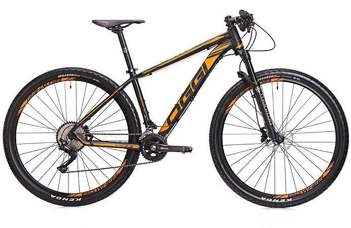 Bicicleta Aro 29 OGGI Big Wheel 7.3 2018 20V Preto/Laranja