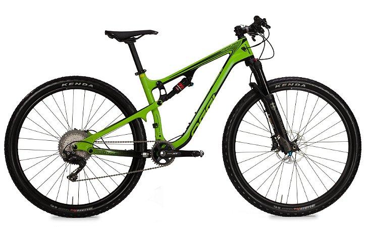 Bicicleta Aro 29 OGGI Cattura Pro Full 2019 11V Carbon Verde