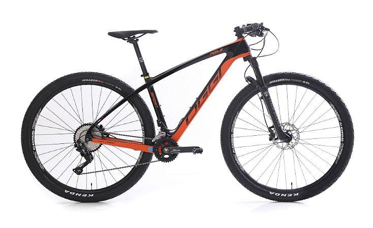 Bicicleta Aro 29 OGGI Agile Sport 2019 20V Carbon Laranja