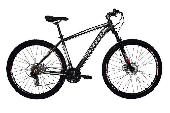 Bicicleta Aro 29 South Legend 2019 21V Preto/Branco