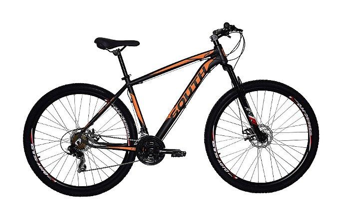 Bicicleta Aro 29 South Legend 2019 21V Preto/Laranja Fosco