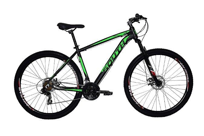 Bicicleta Aro 29 South Legend 2019 21V Preto/Verde