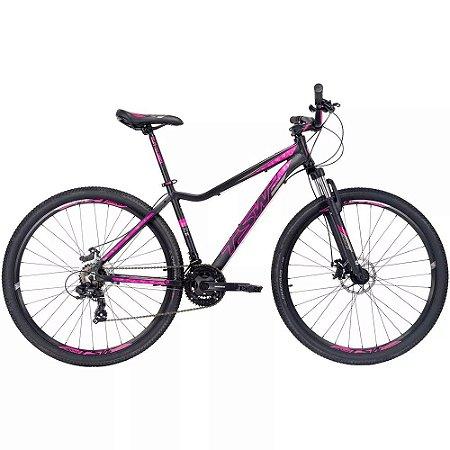 Bicicleta Aro 29 TSW Posh 2019 21V Preto/Rosa Feminina