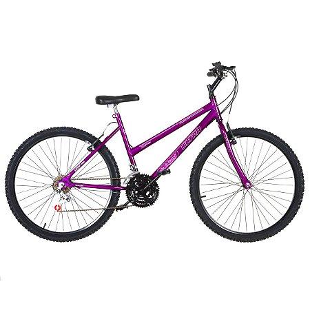Bicicleta Aro 26 Ultra Power Soft 18V Violeta Feminina