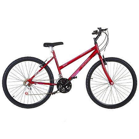 Bicicleta Aro 26 Ultra Power Soft 18V Vermelho Feminina