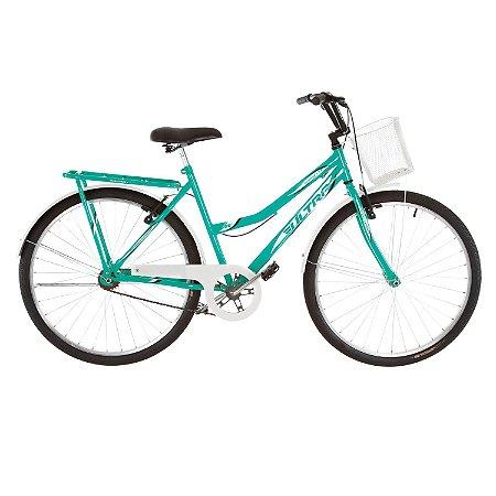 Bicicleta Aro 26 Ultra Vintage Line Verde/Branco