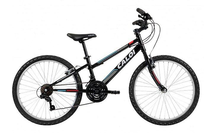 Bicicleta Aro 24 Caloi Forester Preto 21V