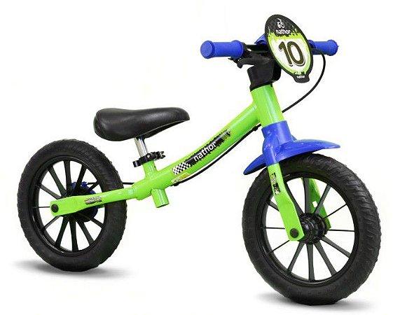 Bicicleta Aro 12 Nathor Balance S/Pedal Verde