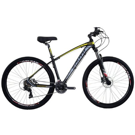 Bicicleta Aro 29 South New R06 2019 24V Preto/Amarelo