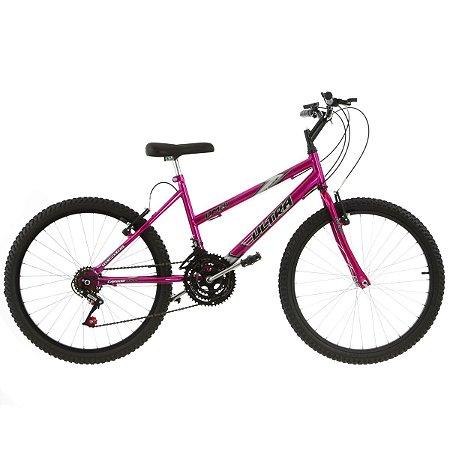 Bicicleta Aro 24 Ultra Power Soft 18V Rosa Feminina